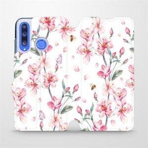 Flipové pouzdro Mobiwear na mobil Honor 20 Lite - M124S Růžové květy