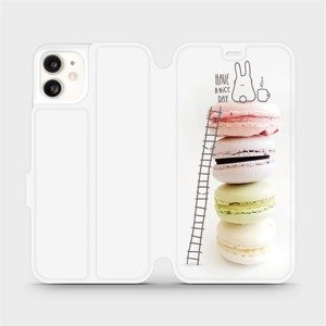 Flipové pouzdro Mobiwear na mobil Apple iPhone 11 - M090P Makronky - have a nice day