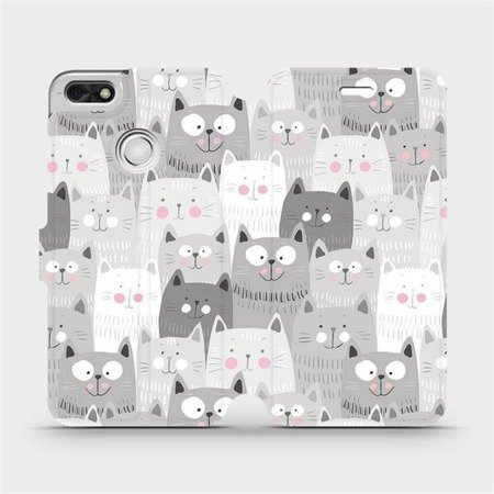 Flipové pouzdro Mobiwear na mobil Huawei P9 Lite mini - M099P Kočičky