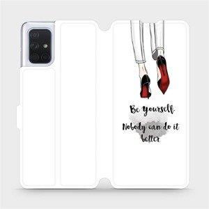 Flipové pouzdro Mobiwear na mobil Samsung Galaxy A71 - M046P Be yourself
