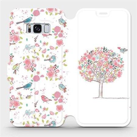 Flipové pouzdro Mobiwear na mobil Samsung Galaxy S8 - M120S Strom a ptáčci