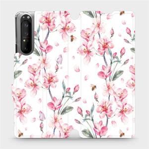 Flipové pouzdro Mobiwear na mobil Sony Xperia 1 II - M124S Růžové květy