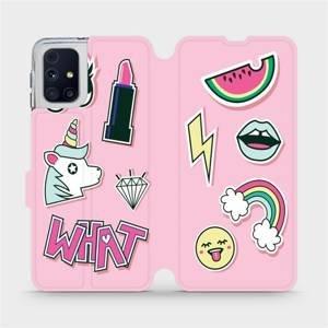 Flipové pouzdro Mobiwear na mobil Samsung Galaxy M31s - M129S Růžové WHAT