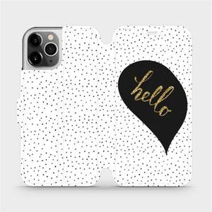 Flipové pouzdro Mobiwear na mobil Apple iPhone 12 Pro - M013P Golden hello