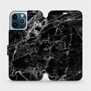 Flipové pouzdro Mobiwear na mobil Apple iPhone 12 Pro Max - V056P Černý mramor