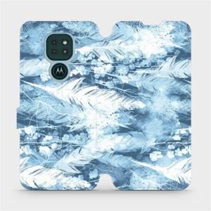 Flipové pouzdro Mobiwear na mobil Motorola Moto G9 Play - M058S Světle modrá horizontální pírka