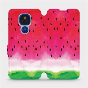 Flipové pouzdro Mobiwear na mobil Motorola Moto E7 Plus - V086S Melounek