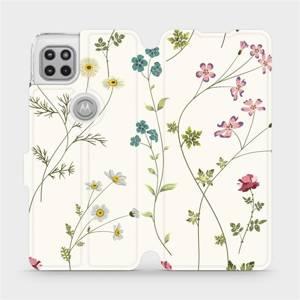 Flipové pouzdro Mobiwear na mobil Motorola Moto G 5G - MD03S Tenké rostlinky s květy