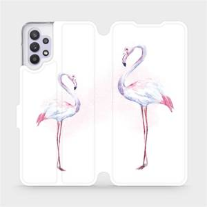 Flipové pouzdro Mobiwear na mobil Samsung Galaxy A32 5G - M005S Plameňáci