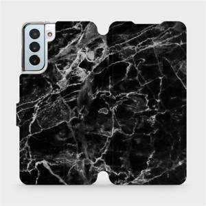 Flipové pouzdro Mobiwear na mobil Samsung Galaxy S21 Plus 5G - V056P Černý mramor