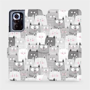 Flipové pouzdro Mobiwear na mobil Xiaomi Redmi Note 10 Pro - M099P Kočičky