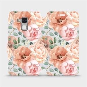 Flip pouzdro Mobiwear na mobil Honor 7 Lite - MP02S Pastelové květy
