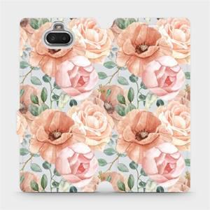 Flip pouzdro Mobiwear na mobil Sony Xperia 10 - MP02S Pastelové květy