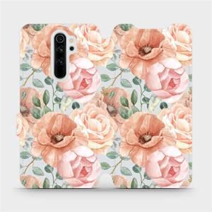 Flip pouzdro Mobiwear na mobil Xiaomi Redmi Note 8 Pro - MP02S Pastelové květy