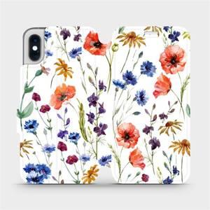 Flip pouzdro Mobiwear na mobil Apple iPhone XS - MP04S Luční kvítí