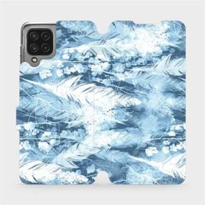 Flip pouzdro Mobiwear na mobil Samsung Galaxy M22 - M058S Světle modrá horizontální pírka