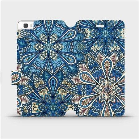Flipové pouzdro Mobiwear na mobil Huawei P8 Lite - V108P Modré mandala květy