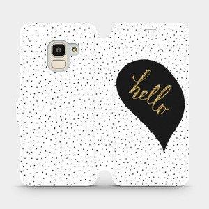Flipové pouzdro Mobiwear na mobil Samsung Galaxy J6 2018 - M013P Golden hello