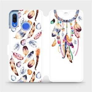 Flipové pouzdro Mobiwear na mobil Huawei Nova 3 - M003S Lapač a barevná pírka