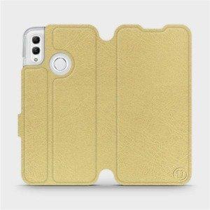 Flipové pouzdro Mobiwear na mobil Honor 10 Lite v provedení C_GOS Gold&Gray s šedým vnitřkem