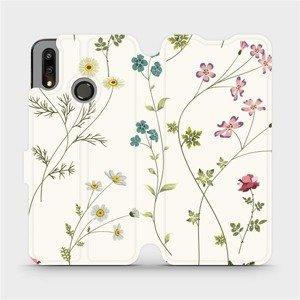 Flipové pouzdro Mobiwear na mobil Huawei P Smart 2019 - MD03S Tenké rostlinky s květy