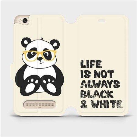 Flipové pouzdro Mobiwear na mobil Xiaomi Redmi 4A - M041S Panda - life is not always black and white