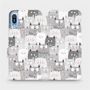 Flipové pouzdro Mobiwear na mobil Huawei Y6 2019 - M099P Kočičky
