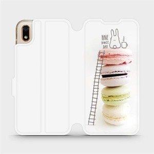 Flipové pouzdro Mobiwear na mobil Huawei Y5 2019 - M090P Makronky - have a nice day
