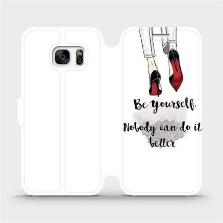 Flipové pouzdro Mobiwear na mobil Samsung Galaxy S7 - M046P Be yourself