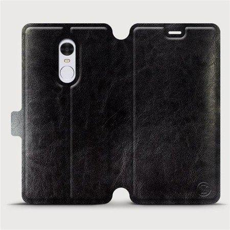 Parádní flip pouzdro Mobiwear na mobil Xiaomi Redmi Note 4 Global v provedení C_BLS Black&Gray s šedým vnitřkem