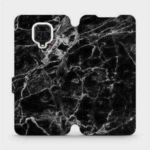 Flipové pouzdro Mobiwear na mobil Xiaomi Redmi Note 9 Pro - V056P Černý mramor