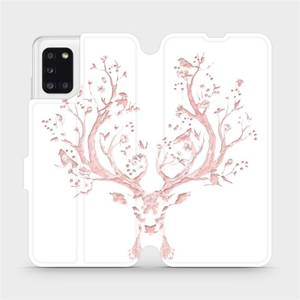 Flipové pouzdro Mobiwear na mobil Samsung Galaxy A31 - M007S Růžový jelínek