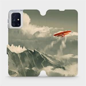 Flipové pouzdro Mobiwear na mobil Samsung Galaxy M31s - MA03P Oranžové letadlo v horách