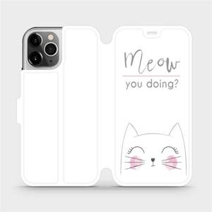 Flipové pouzdro Mobiwear na mobil Apple iPhone 12 Pro - M098P Meow you doing?