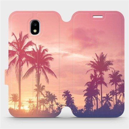 Flipové pouzdro Mobiwear na mobil Samsung Galaxy J5 2017 - M134P Palmy a růžová obloha