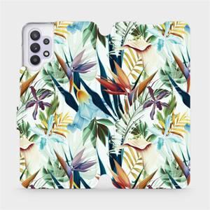 Flipové pouzdro Mobiwear na mobil Samsung Galaxy A32 5G - M071P Flóra