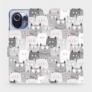Flipové pouzdro Mobiwear na mobil Xiaomi Mi 11 - M099P Kočičky