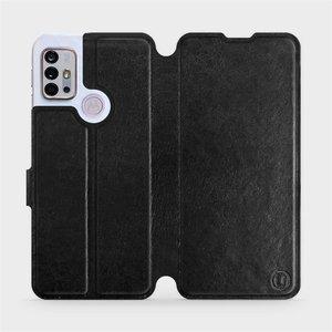 Flipové pouzdro Mobiwear na mobil Motorola Moto G10 v provedení C_BLS Black&Gray s šedým vnitřkem