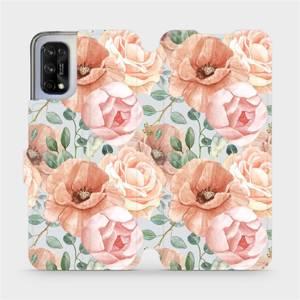 Flip pouzdro Mobiwear na mobil Realme 7 5G - MP02S Pastelové květy