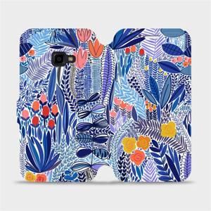 Flip pouzdro Mobiwear na mobil Samsung Galaxy Xcover 4 - MP03P Modrá květena