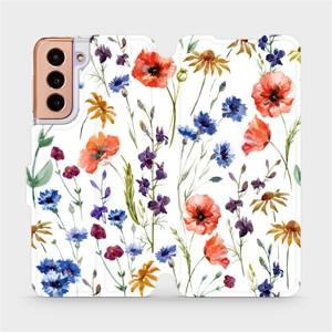 Flip pouzdro Mobiwear na mobil Samsung Galaxy S21 - MP04S Luční kvítí