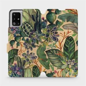 Flip pouzdro Mobiwear na mobil Samsung Galaxy M51 - VP05S Sukulenty