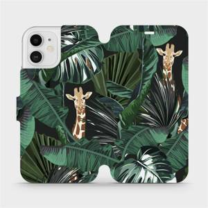 Flip pouzdro Mobiwear na mobil Apple iPhone 12 - VP06P Žirafky