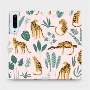 Flip pouzdro Mobiwear na mobil Huawei P30 - MP07S Leopardi