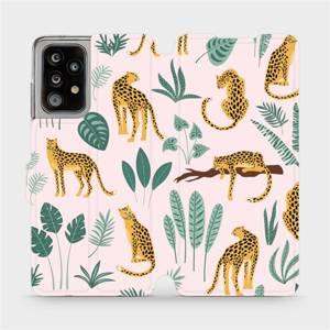 Flip pouzdro Mobiwear na mobil Samsung Galaxy A52 / A52 5G - MP07S Leopardi