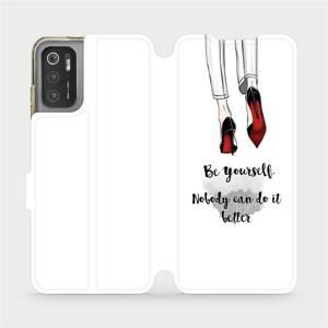 Flip pouzdro Mobiwear na mobil Xiaomi Poco M3 Pro 5G - M046P Be yourself