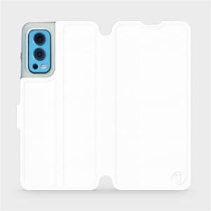 Flip pouzdro Mobiwear na mobil OnePlus Nord 2 5G v provedení C_WHS White&Gray s šedým vnitřkem