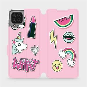 Flip pouzdro Mobiwear na mobil Samsung Galaxy M22 - M129S Růžové WHAT