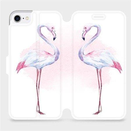Flipové pouzdro Mobiwear na mobil Apple iPhone 8 - M005S Plameňáci