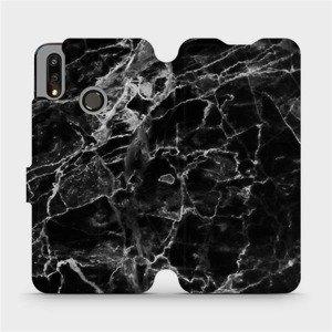 Flipové pouzdro Mobiwear na mobil Huawei P Smart 2019 - V056P Černý mramor
